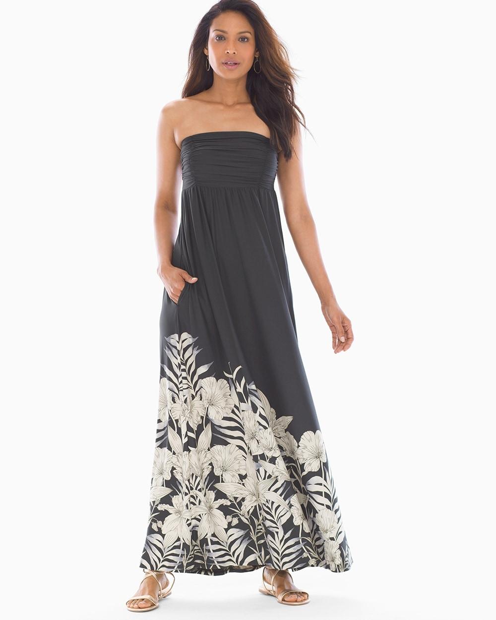 ee7dd6af6bb4 Bandeau Maxi Bra Dress Idyllic Floral Grand Blk - Soma