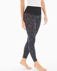 Slimming Leggings Baroque Jacquard Black