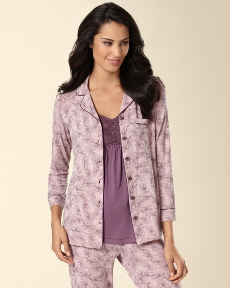 Notch Collar Pajama Top Delight