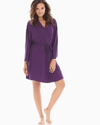 Cool Nights Short Robe Blackberry