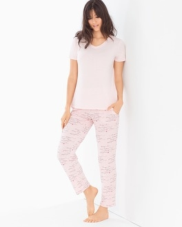 Cool Nights Ankle Length Pajama Set Love Languages Rose