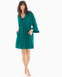 Cool Nights Short Robe Green Envy