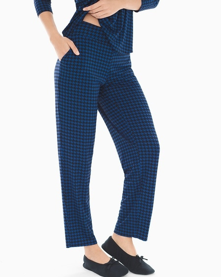 Ankle Pajama Pants Houndstooth Majesty