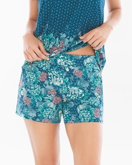 Embraceable Cool Nights Pajama Shorts Tranquil Poseidon
