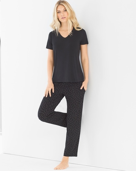 Ankle Length Pajama Set Festivity Black