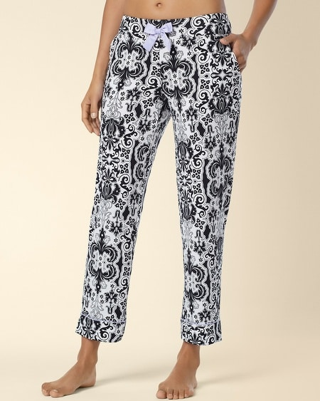 Ankle Pajama Pant Lullaby Scroll