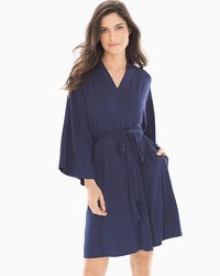 Cool Nights Short Robe Navy