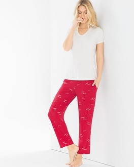 Cool Nights Short Sleeve/Ankle Pants Pajama Set