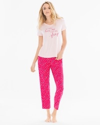 Cool Nights Ankle Length Pajama Set Love Me Rose Quartz