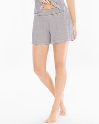 Cool Nights Full Tap Pajama Shorts Infinite Stripe Ivory