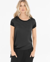 X by Gottex Fabric Mixing Short Sleeve Tee