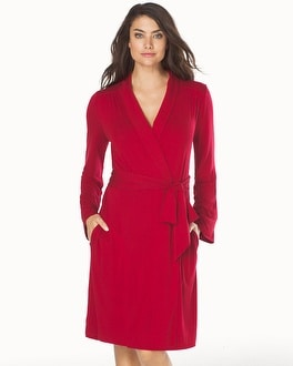 Embraceable Cool Nights Short Robe Ruby