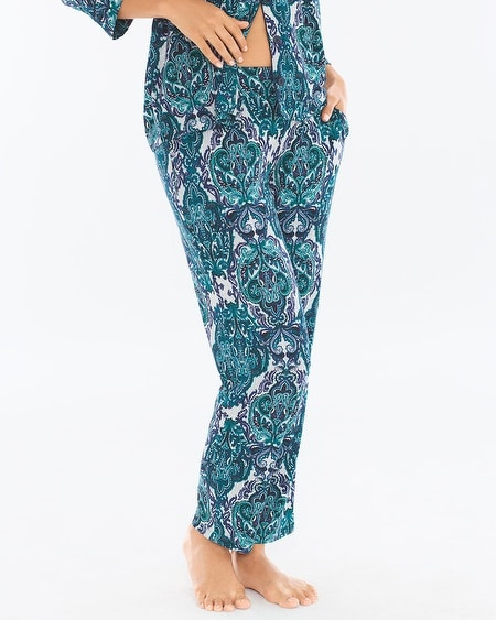 Ankle Pajama Pants Menagerie Cool Gray