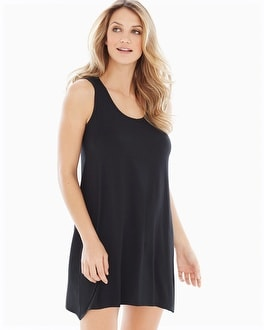 Embraceable Cool Nights Sleeveless Sleepshirt Black
