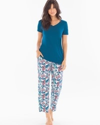 Cool Nights Ankle Pants Pajama Set Gracious Fan Poseidon