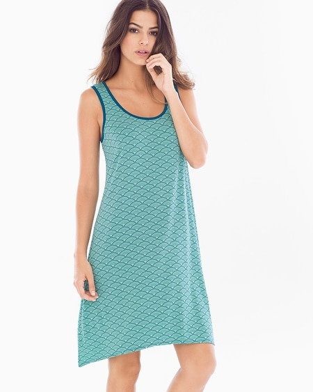 Sleeveless Sleepshirt Dynamic Dot Wasabi