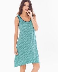 Cool Nights Sleeveless Sleepshirt Dynamic Dot Wasabi