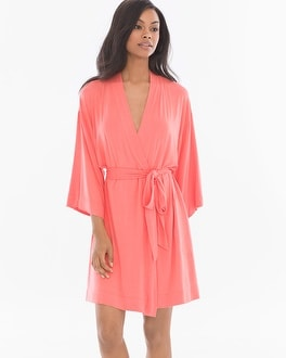 Cool Nights Short Robe Coral Rose