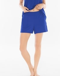 Cool Nights Pajama Shorts Jewel Blue