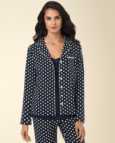 Pajama Top Big Dot Navybound