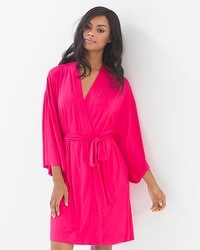 Cool Nights Short Robe Pink Punch