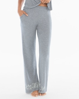 Cool Nights Pajama Pants Content Border Heather Silver TL