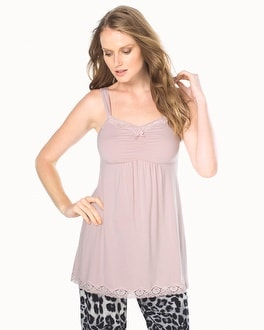 Embraceable Cool Nights Lace Sleep Cami Pink Romance