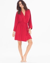 Cool Nights Short Robe Ruby