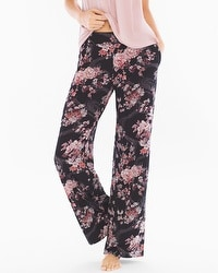 Cool Nights Pajama Pants Blooms Black Tall