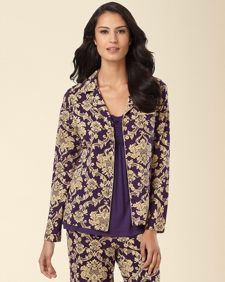 Pajama Top Nocturnal Blackberry