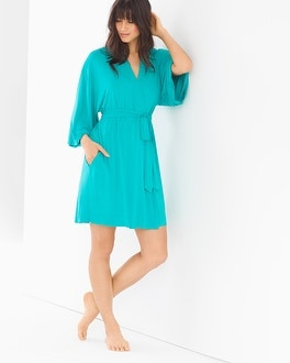 Cool Nights Short Robe Viridian Green