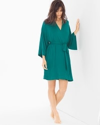Cool Nights Short Robe Green Ivy