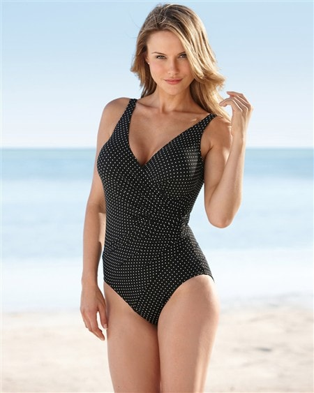 Miraclesuit Pin Point Oceanus One Piece/ Sizes: 16W-22W