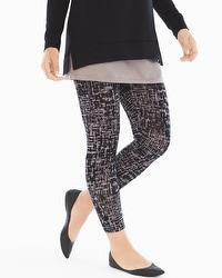 Live. Lounge. Wear. Crop Leggings Retro Dash Smokey Taupe