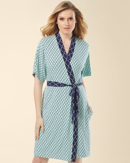 Short Robe Surfside Tile Pale Jade