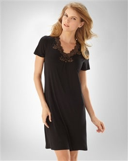 Embraceable Cool Nights Black/Soft Tan PJ Sleepshirt