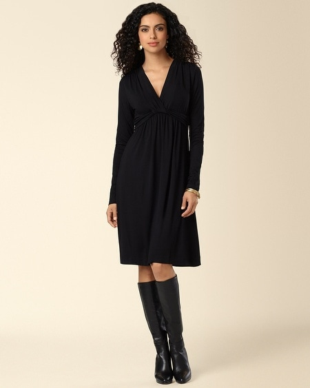 Knotted Empire Dress Black