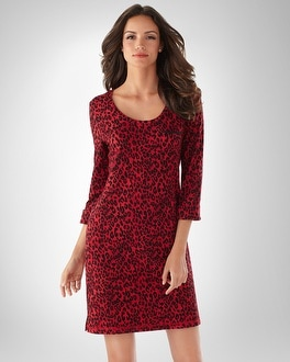 Embraceable Leopard Red Sleepshirt