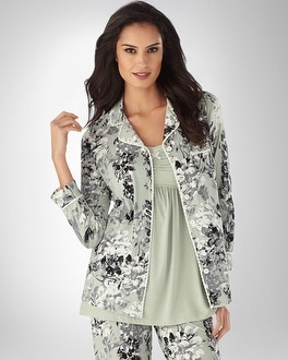 Embraceable Cool Nights Divine Frosty Green PJ Top