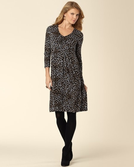 Twist Front Dress Cheetah Print