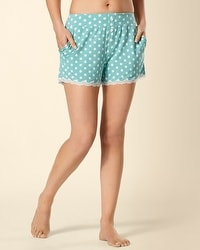 Embraceable Cool Nights Big Dot Teal PJ Short