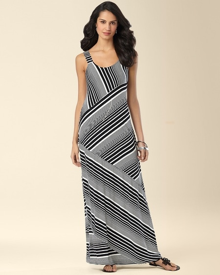 Angled Stripe Maxi Dress Gradient Stripe