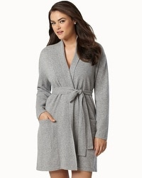 Arlotta Short Cashmere Robe Heather Grey
