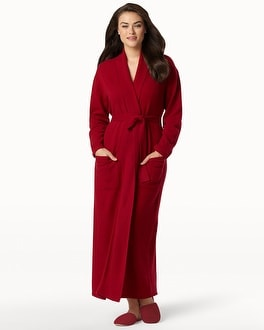 Arlotta Long Cashmere Robe Bordeaux