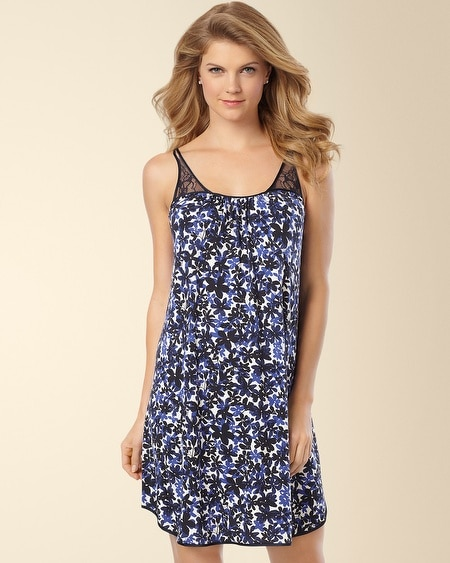 Always On My Mind Sleep Chemise Rhapsody in Blue Print