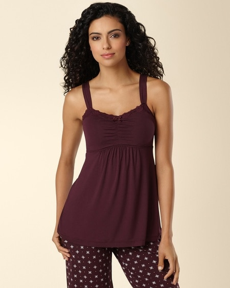 Lace Sleep Cami Merlot