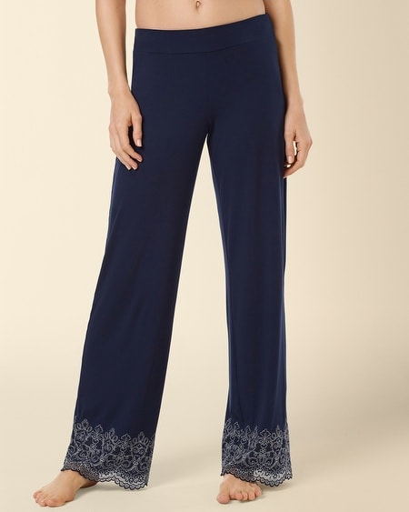 Scroll Lace Pajama Pant Navybound