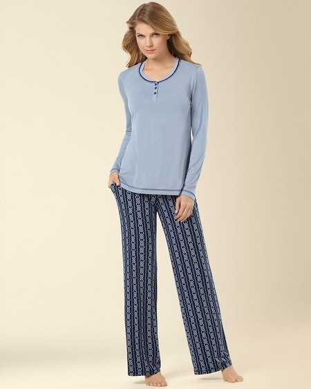 Pajama Set Trilogy Stripe Navybound