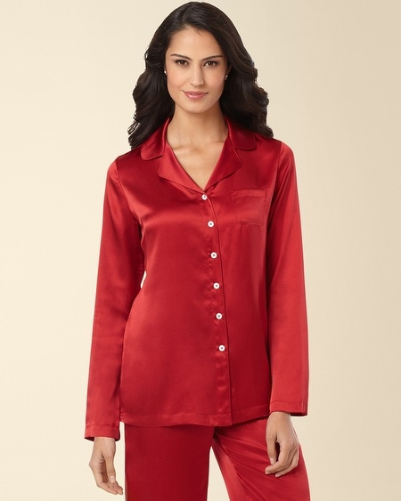 Silk Pajama Top Ruby