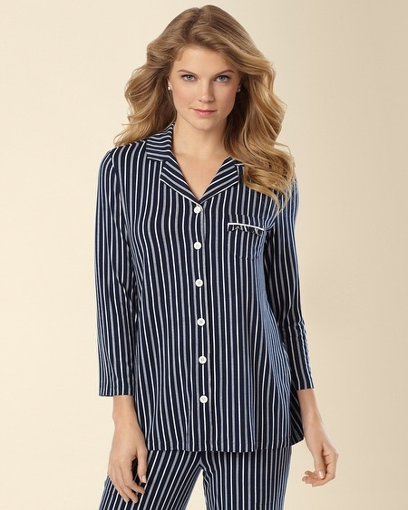 Notch Collar Pajama Top Regency